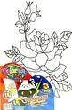 Платно за рисуване + бои