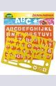 Шаблони - азбука, числа, знаци