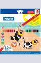 Цветни моливи 12 цвята, MAXI-шестоъгълни + острилка