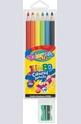 Цветни моливи - 6 цвята + острилка