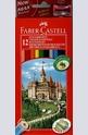 Цветни моливи Faber-Castell 12 броя + острилка