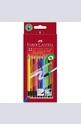Цветни моливи Faber-Castell с гума 12 броя