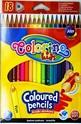 Цветни моливи - триъгълни - 18 цвята