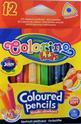 Цветни моливи - триъгълни - mini - 12 цвята
