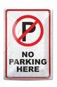 Метална табелка - A4 - No parking